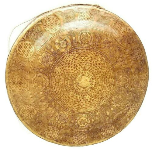 100 cm Diameter Large Tibetan Gong-Temple gong-customize work-Mantra carved