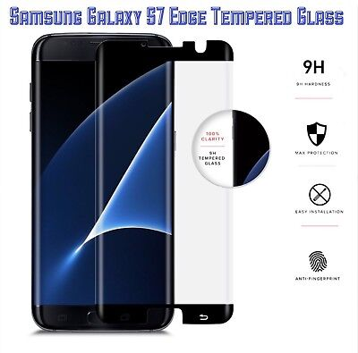 ZIZO TEMPERED GLASS 9H Screen Protector (Black) For Samsung Galaxy S7 Edge