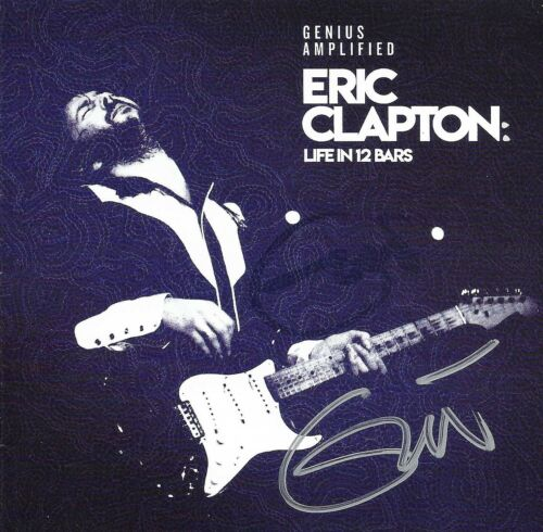 Eric Clapton Hand Signed Genius Amplified CD (Twice), Cream, Blind Faith