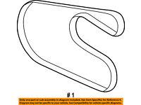 D/&D PowerDrive MD376691 Chrysler Replacement Belt