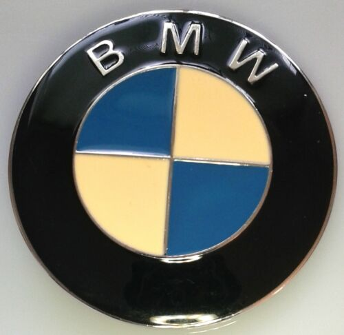 BMW~Belt Buckle Famous Circle Logo Black, Blue, Cream & Silver Beautiful - Nice