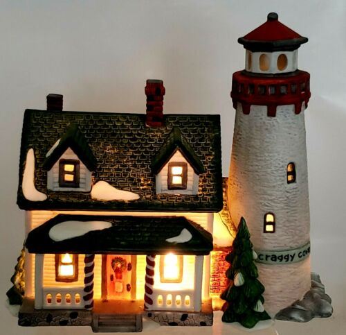 Dept. 56 New England Village Series Craggy Cove Lighthouse  Lighted 1987