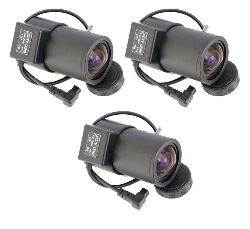 3x 2.8-12mm Varifocal Adjustable Auto Iris Manual Zoom for CCTV Security Camera