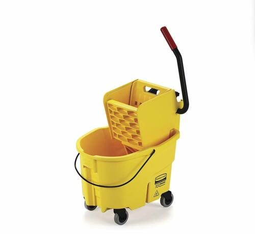 Rubbermaid Commercial WaveBrake 2.0 35 QT Side-Press Mop Bucket and Wringer