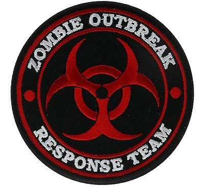 """Zombie Outbreak Response Team RED Embroidered 3"""" Patch FAST USA SHIPPING"""