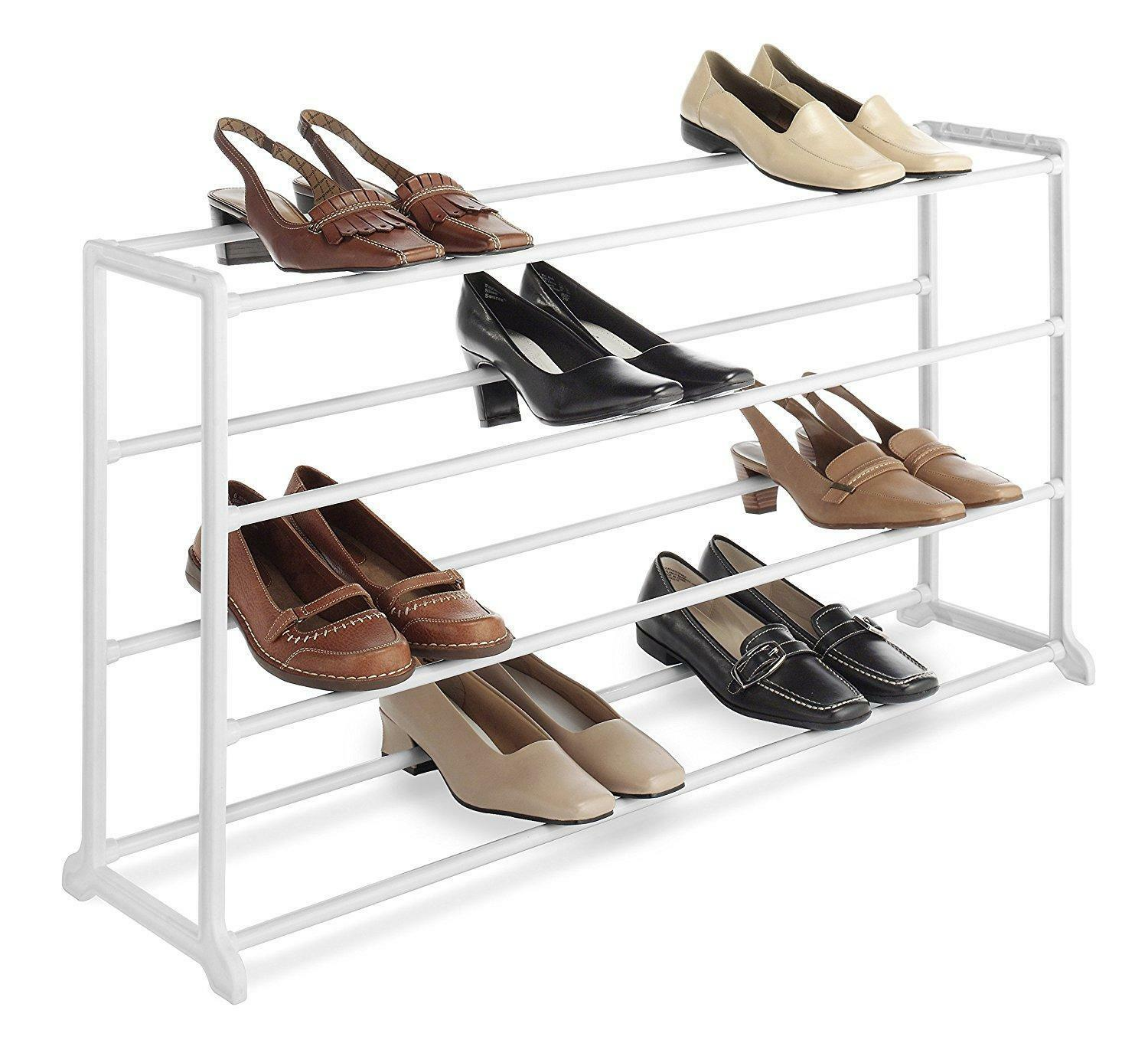 Shoe Shelf Stand Organizer Storage Closet Entrance 20 Pair Home Rack White  New