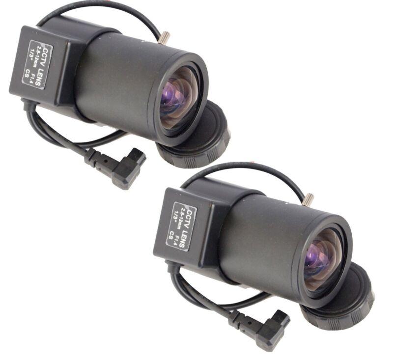 2pcs 2.8-12mm Wide Angle Adjustable Varifocal Zoom CCTV Security Camera CS Lens