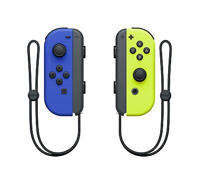 Neon Blue/Yellow Nintendo Switch Joy Con Wireless Controller Official Product