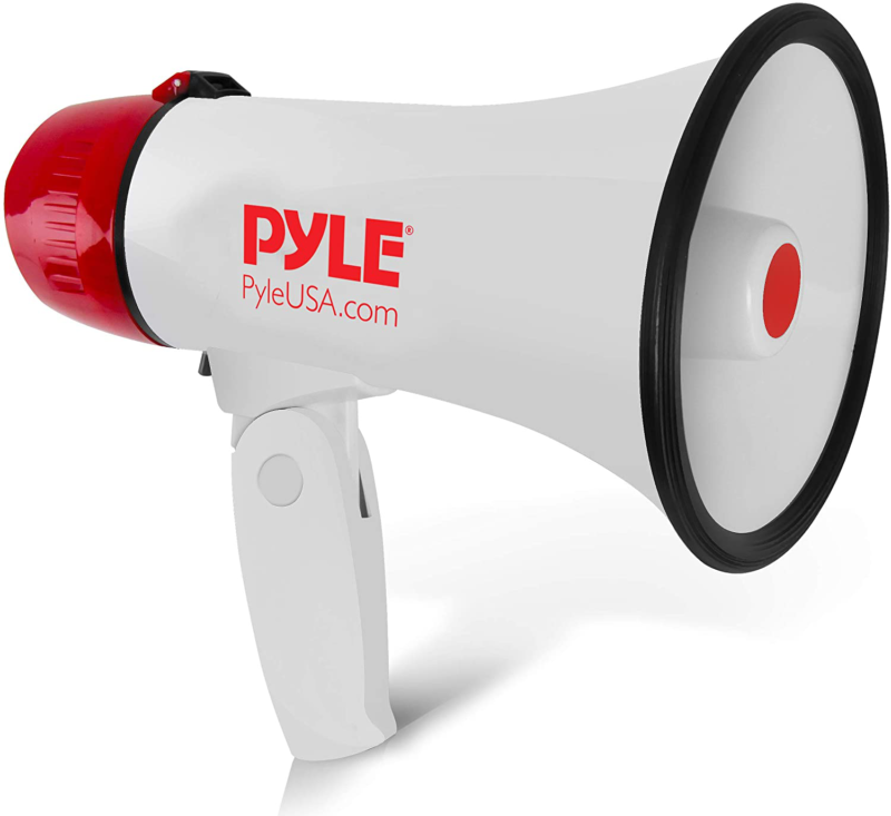 Pyle Megaphone Speaker PA Bullhorn- 20 Watt Adjustable Volum