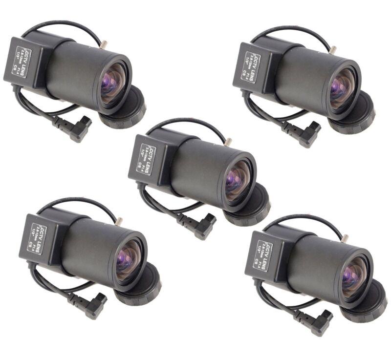 5 Pcs 2.8-12mm Varifocal Auto Iris Lens for Professional CCTV Security Cameras