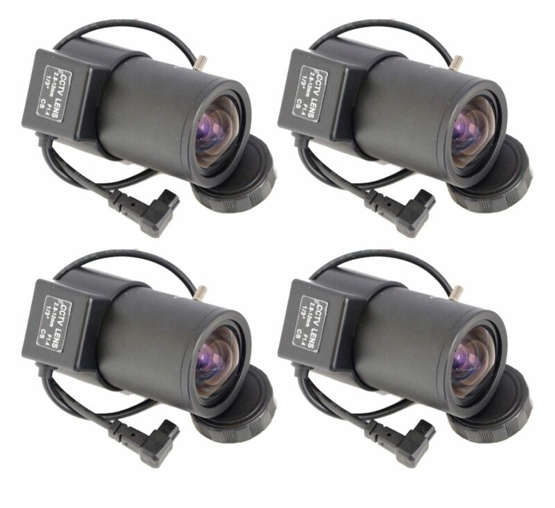 4 Pcs 2.8-12mm  Wide Angle Varifocal Auto Iris Lens for Professional CCD Cameras