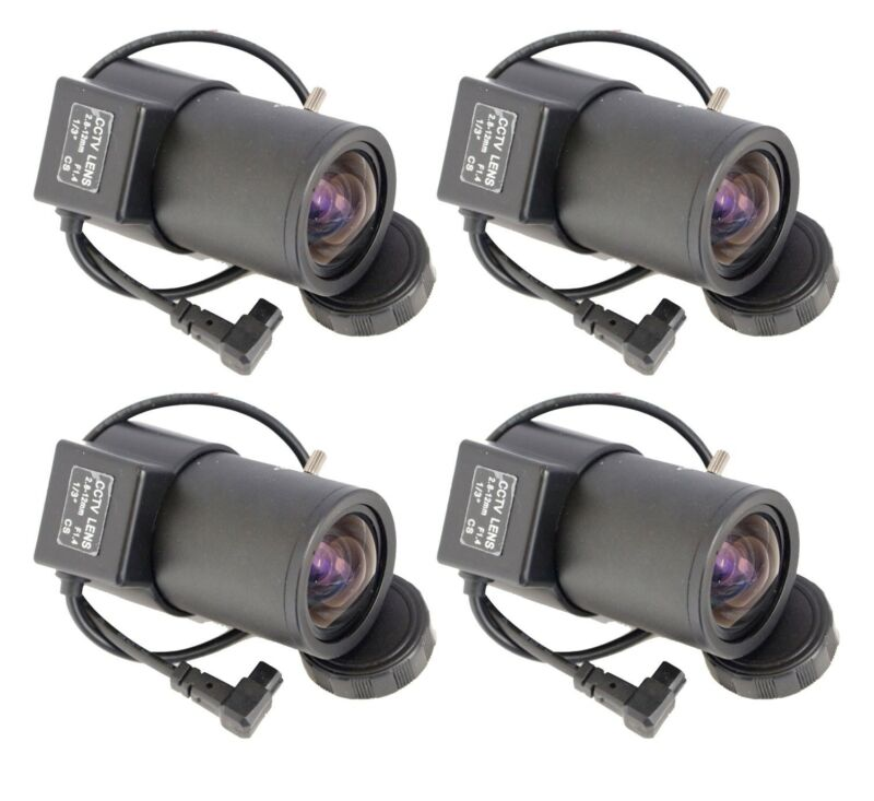 4pcs 2.8-12mm Varifocal Adjustable Auto Iris ZOOM CCTV Security Camera CS Lens