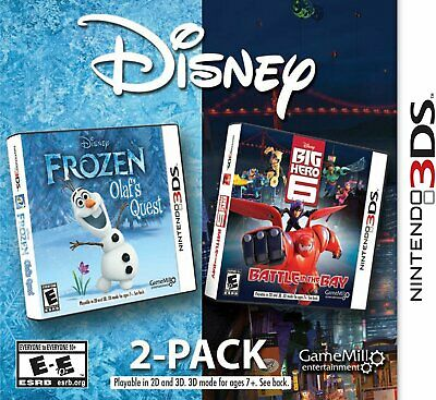 NINTENDO 3DS FROZEN OLAF'S QUEST & BIG HERO 6 TWO GAMES IN ONE BRAND NEW