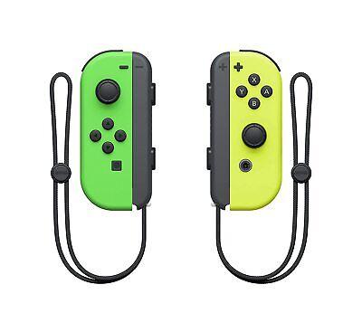 Genuine Nintendo Joy-Con Controllers (L / R) - Neon Green Neon Yellow VG - GST3