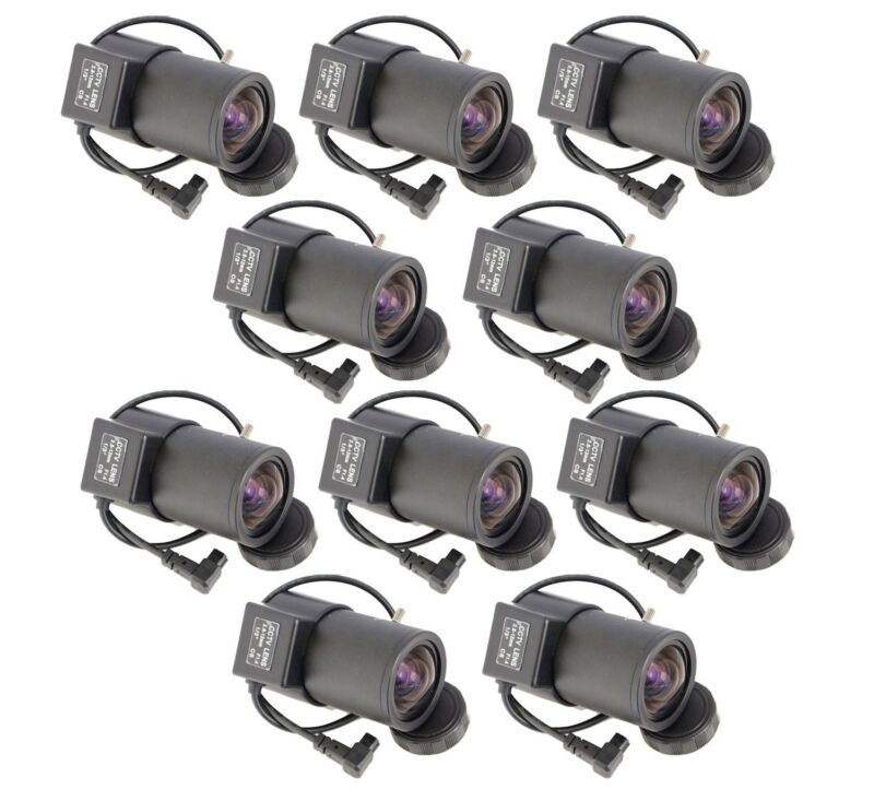 10Pcs 2.8-12mm Varifocal Wide Angle Auto Iris Manuel ZOOM Lens for CCTV Cameras