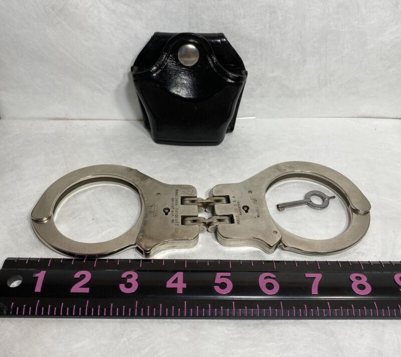 Peerless Model 301 Hinged Nickel Handcuffs