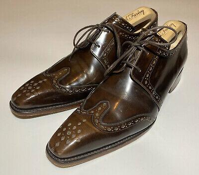 Jeffery West 'Moon1034' Men's Polished Walnut Classic Wing Gibson Shoes - UK 7