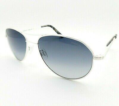 Randolph Douglas DS001 Satin Silver Polarized Mystic Blue DS001 USA Sunglasses