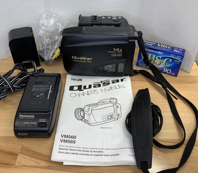 Quasar Vintage VHS Video Camcorder 14:1 Zoom Model VM565 Tested. Excellent  Cond