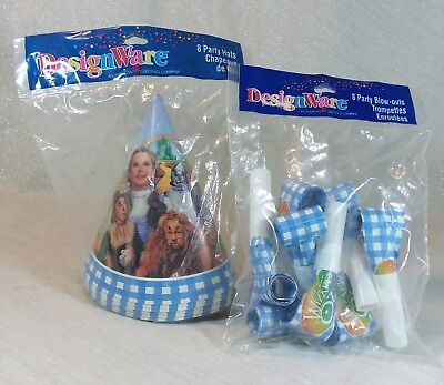 VTG 1997 Wizard of Oz American Greetings DesignWare 8 Party Hats & 8 Blow-Outs](Paper Wizard Hat)