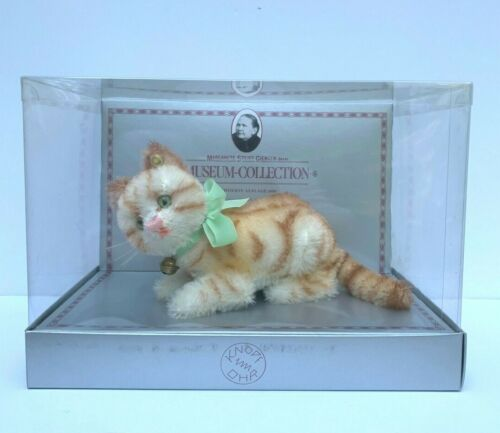 STEIFF TABBY CAT 0104/10 REPLICA 1928 MUSEUM COLLECTION LIMITED EDITION BOX COA