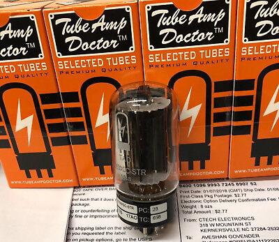 Factory Matched Octet Tube Amp Doctor TAD 6L6 6L6WGC-STR  GE Type Black Plate