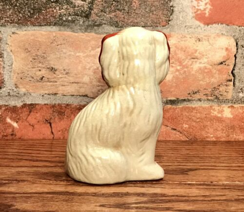 Купить Staffordshire Red & White Spaniel Dog Miniature Porcelain Figurine