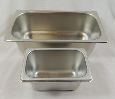 Lot Of 2 Bloomfield Stainless Steel 18-8 Steam Table Pans