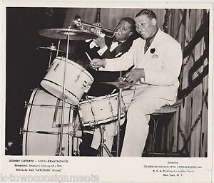 LOUIS-ARMSTRONG-SID-CATLETT-JAZZ-BIG-BAND-MUSICIANS-VINTAGE-RCA-PROMO-PHOTO