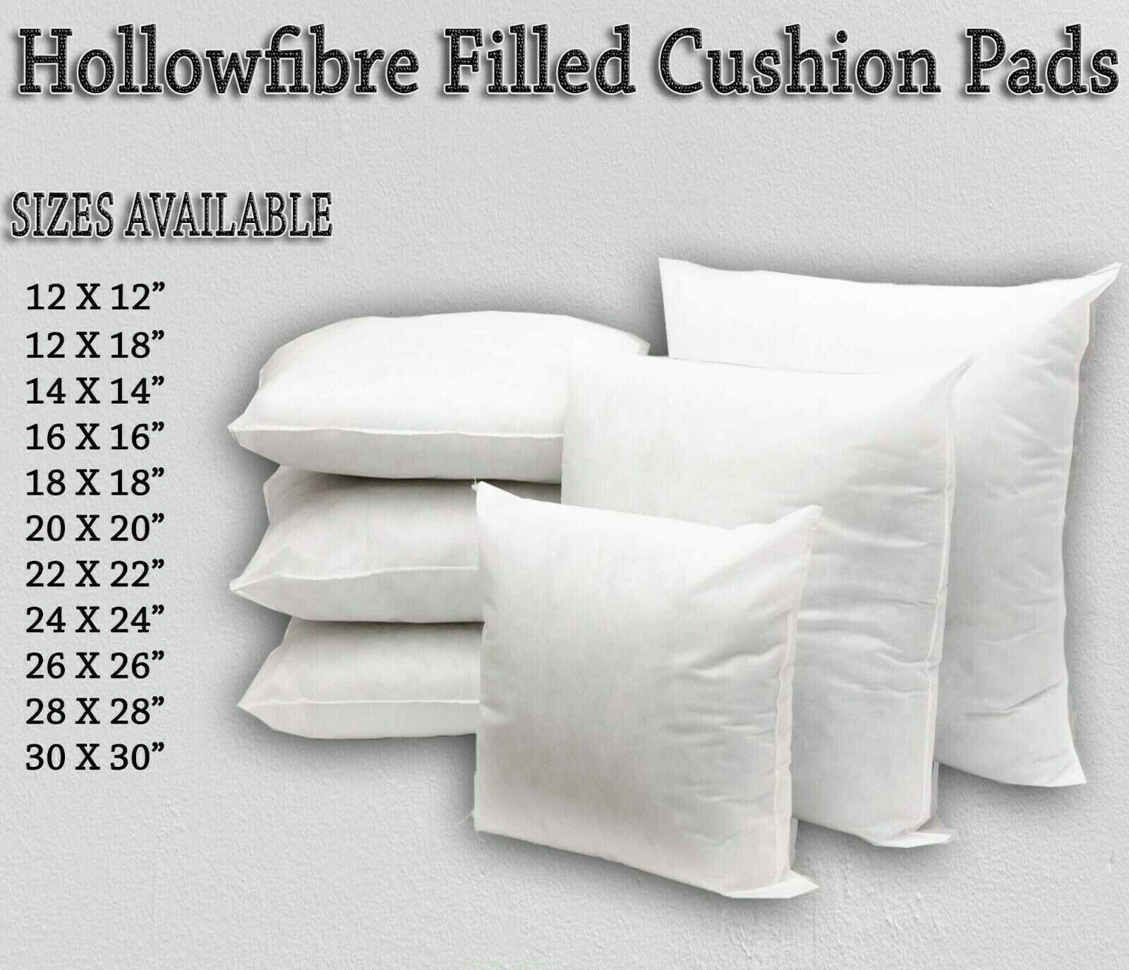"""Top Quality Cushion Pads Inner Fillers,Hollowfiber 12/""""14/""""16/""""18/""""20/""""22/""""24/""""26/"""""""