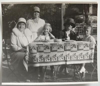 Vintage tolles altes Foto Sept. 1930: Frauen mit - Kinder Mit Hüten