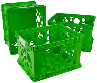 Storex Storage And Filing Crates With Comfort Handles Case Of 3