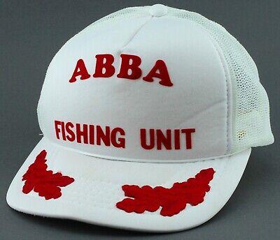 ABBA SHRINERS FISHING UNIT WHITE MESH TRUCKER HAT CAP SNAP BACK