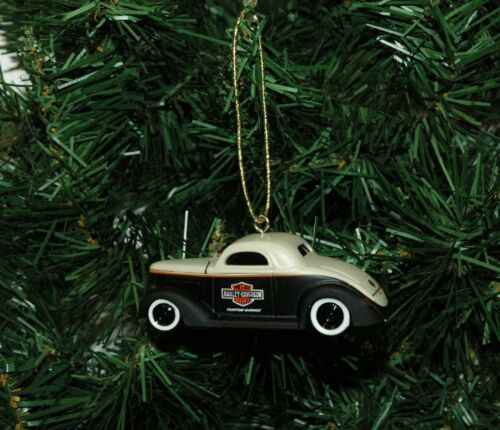 1936 Ford Coupe With Harley-Davidson Logo Christmas Ornament