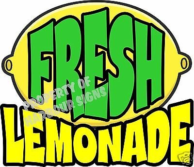 Fresh Lemonade Decal 14 Drinks Food Truck Restaurant Concession