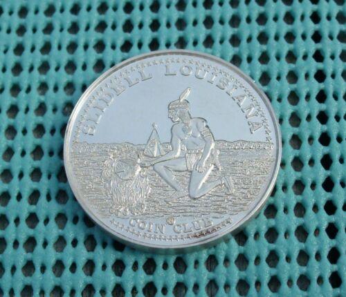 1971 Slidell Louisiana Coin Club .999 FINE SILVER Mardi Gras doubloon