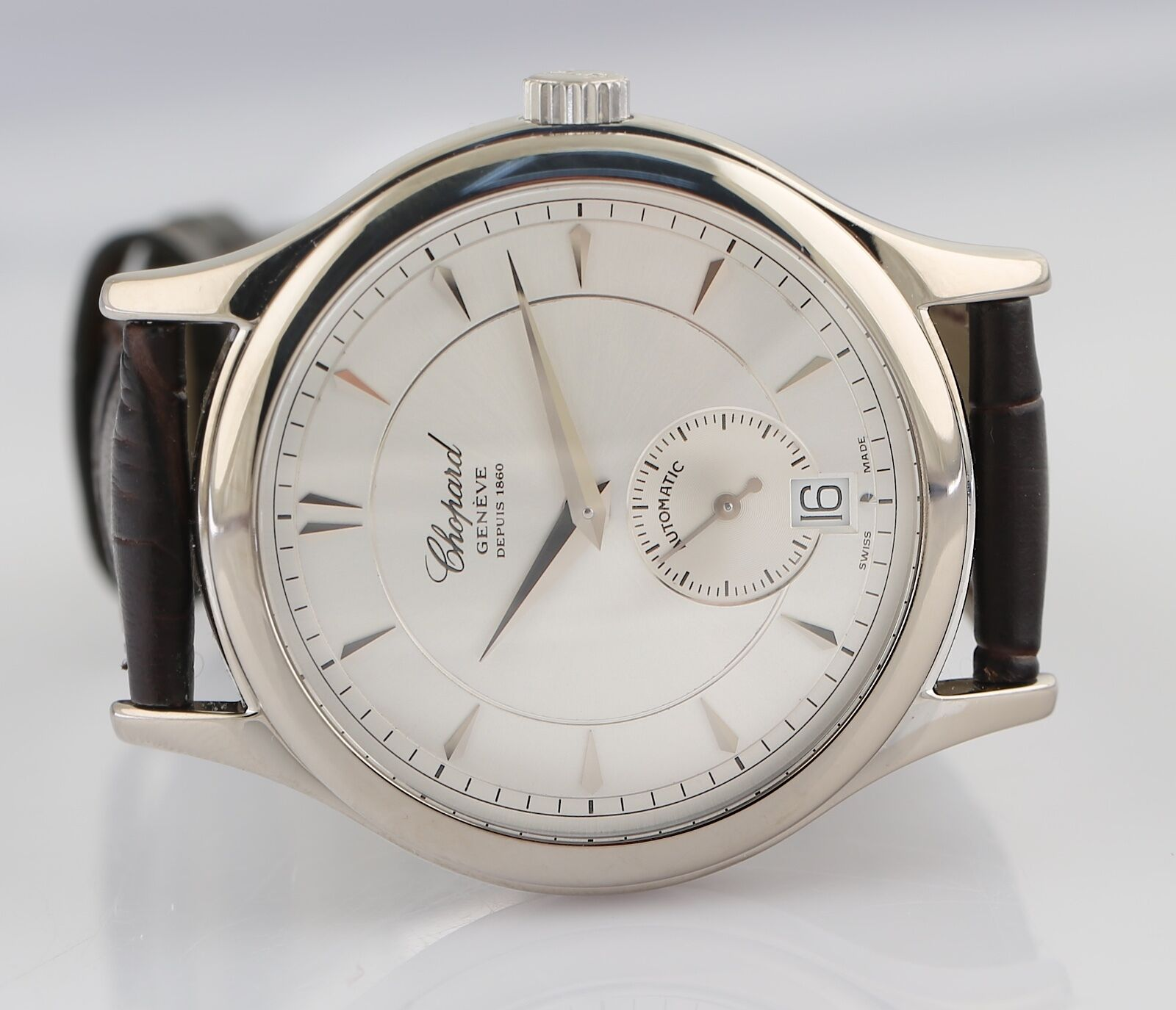 Chopard LUC 16/1860 Limited Edition 18k White Gold Automatic Wristwatch - watch picture 1