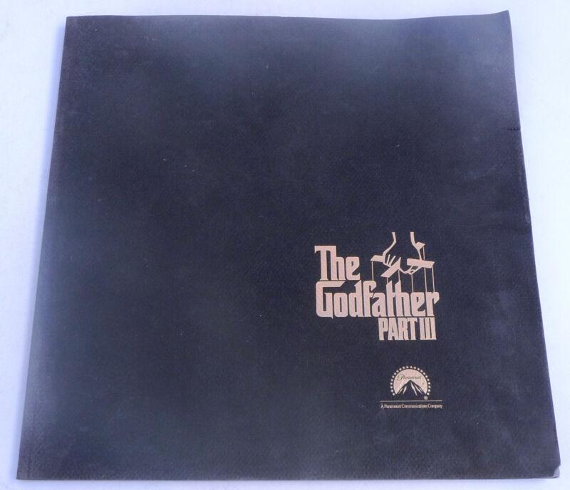 original Godfather Part III Academy Awards Oscar Booklet -- great price!!