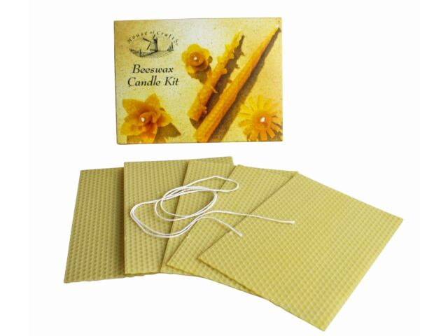 House of Crafts Natural Beeswax Candle Making Kit