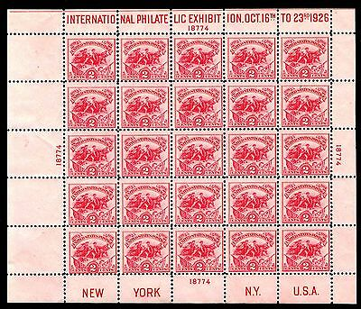 US.#630 WHITE PLAINS SOUVENIR SHEET OF 1926 - MOGLH  - $350.00 (ESP#003-8284)
