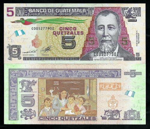 GUATEMALA - P NEW -  5 QUETZALES - GEM UNC - 2014 - REPLACEMENT - LETTER Z