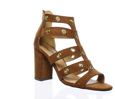 Qupid Womens Chester-19 Brown Sandals Size 7