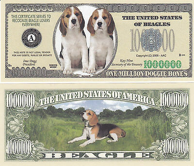 MONEY-X1 1-Dalmatian Dog  Dollar  Bill  Puppy  Collectible FAKE-Novelty