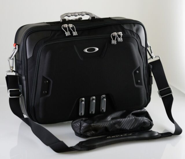 oakley home office computer black briefcase laptop tablet carry on new