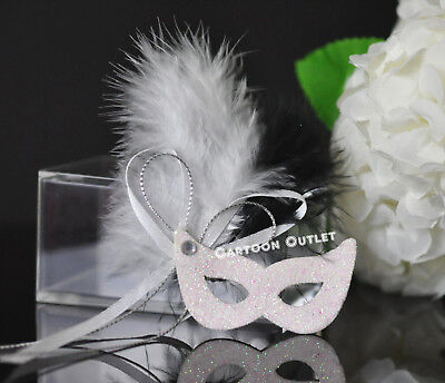 Mask Party Favors (12 MINI VENETIAN FOAM MASK PARTY FAVORS QUINCEANERA  RECUERDOS MASQUERADE WHITE)