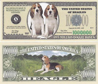 BASSET HOUND DOG MILLION DOLLAR NOVELTY BILL PLAY MONEY