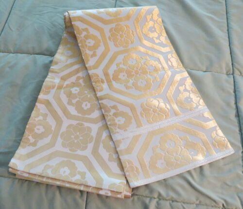 Japanese Silk Maru Double Sided Obi Sash Flowers Heavy Gold Thread 328 cm
