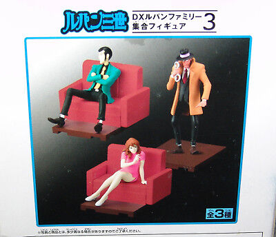 NEW Banpresto Lupin the Third DX FAMILY COLLECTIVE FIGURE SERIES #3 COMPLETE 3pc