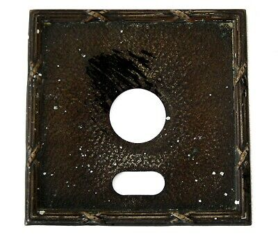 Antique Vintage Single Light Switch Toggle Cover Plate Metal #B