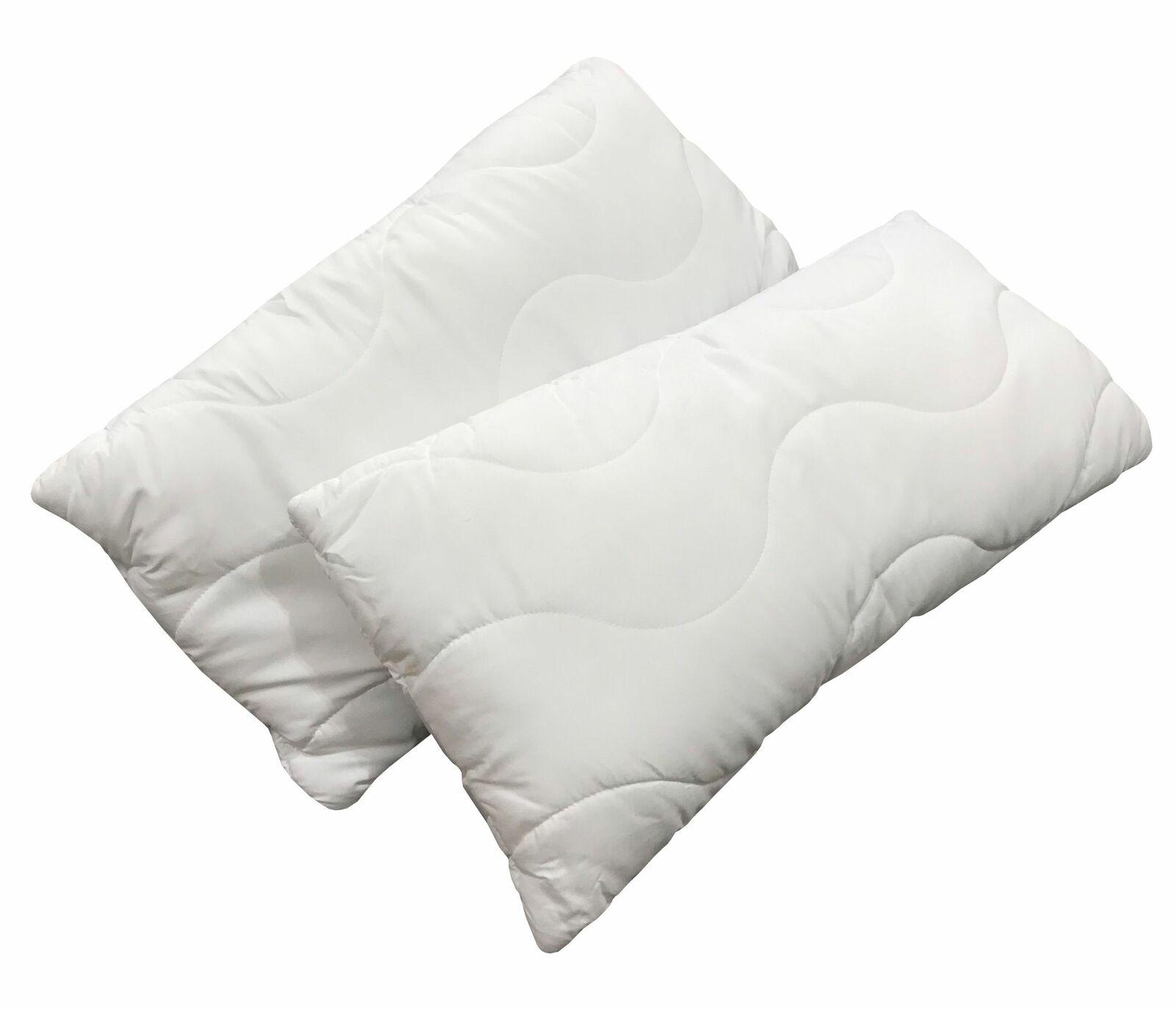 Kissen 40x80 cm weiß 2 Stück Schlafkissen Kopfkissen Allergikergeeignet
